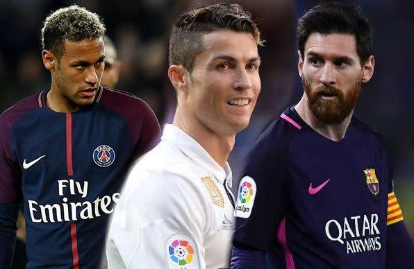 Messi, Ronaldo, Neymar sune suka fi sauran yan wasan kwallon kafa daukar albashi mai tsoka