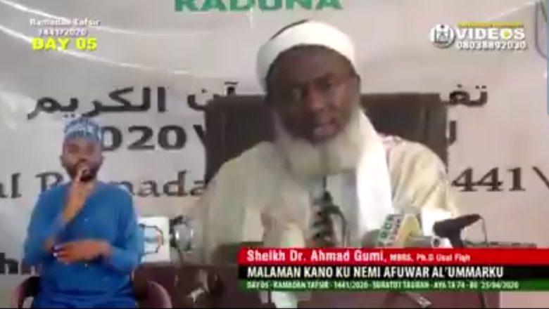 Bidiyo:Duk wanda yace an hana Sallah Azzalumine>>Sheikh Dr. Ahmad Gumi