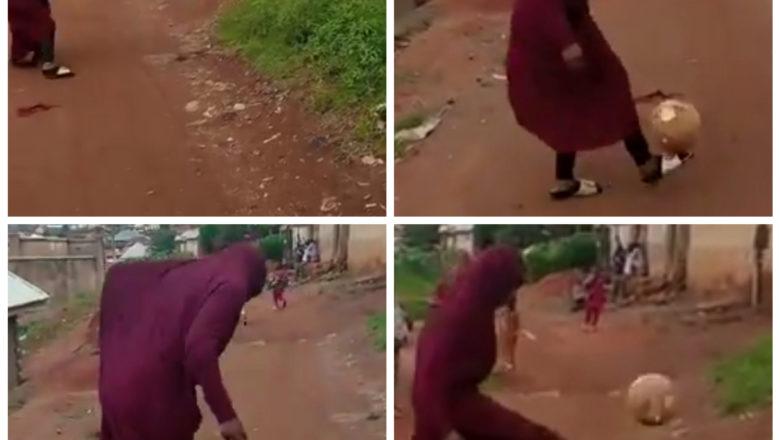 Bidiyo: Kalli wata gwanar Budurwa tana buga kwallo cikin hijabi