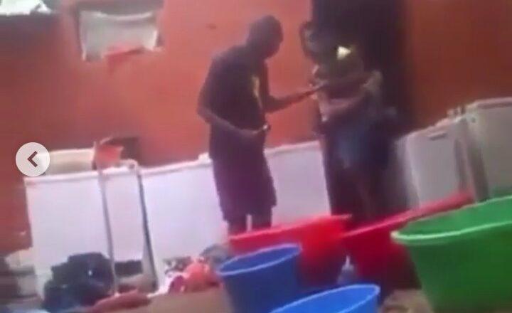 Bidiyo: Yanda Wata Mata ta rusawa mijinta kwalba akai bayan da ya falla mata mari