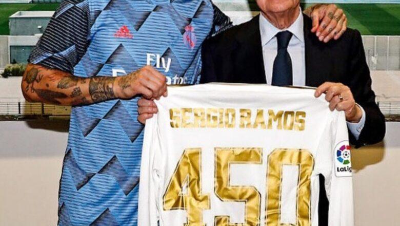 Sergio Ramos ya bugawa Real Madrid wasanni 450