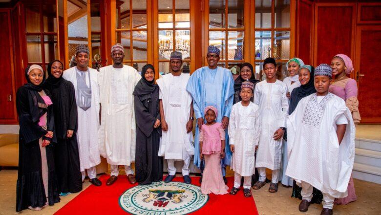 Shugaba Buhari da iyalansa yayin Murnar Sallah
