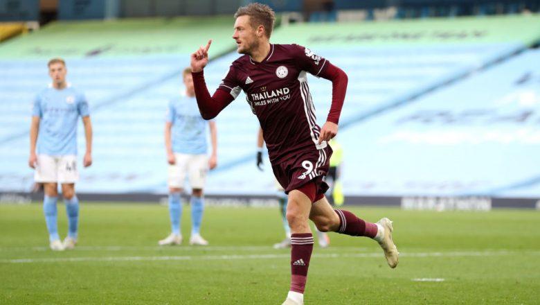 Manchester City 2-5 Leicester City: Yayin da Jamie Verdy yaci kwallaye uku, Guardiola ya kwashi abin kunya