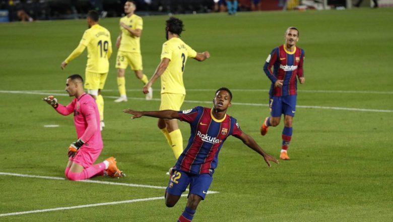 Barcelona 4-0 Villarreal: Yayin da Ansu Fati ya taimakawa Barcelona da kwallaye biyu cikin mintina 20