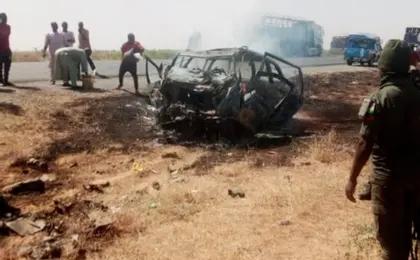 Hadarin Mota da ya faru yau, Juma'a ya ci rayuka 15 a Borno