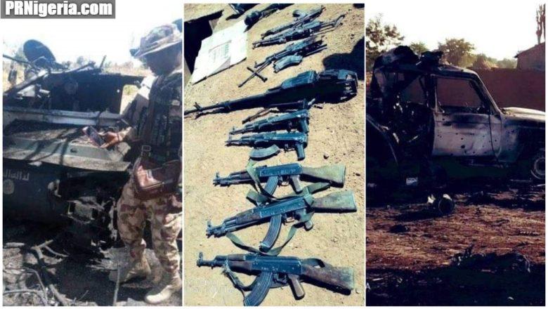 Hotunan yanda Sojojin Najeriya suka wa Boko Haram Rugurugu a Borno